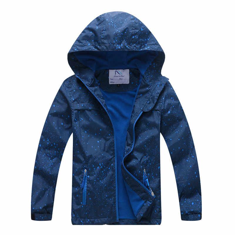 חדש 2019 אביב סתיו ילדי הלבשה עליונה מעילי ספורט אופנה ילדי מעילי פעמיים סיפון עמיד למים Windproof בני בנות מעילים