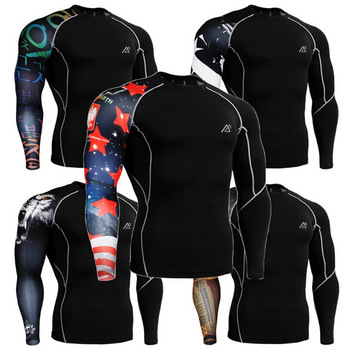 2017 man football soccer jerseys printed mens spandex stitched football jersey base layer clothing shirts functional shirts