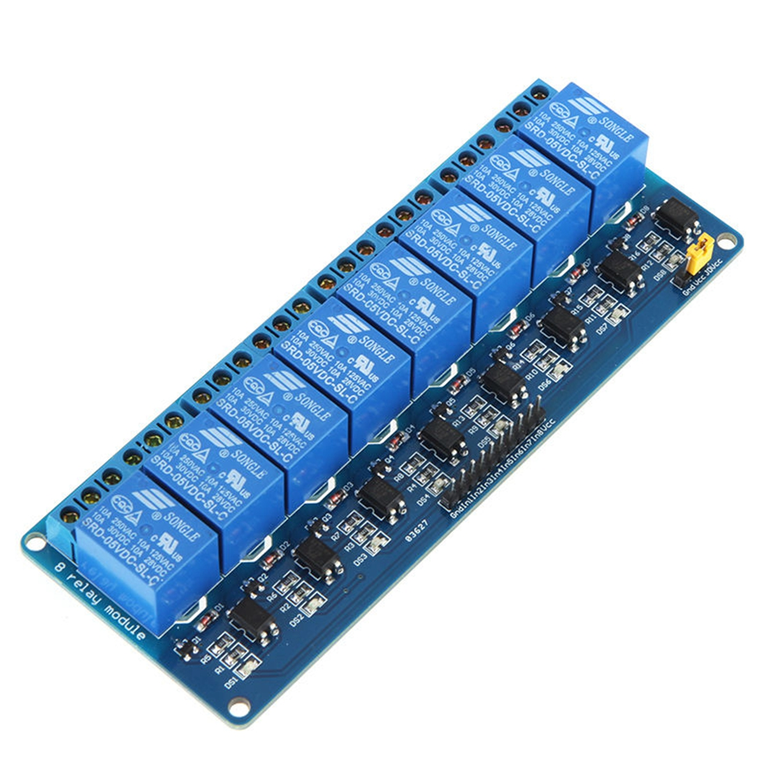5V 8 Channel Relay Module Board For Arduino AVR PIC MCU DSP ARM 5v 4 channel relay module for arduino pic arm dsp avr msp430 blue