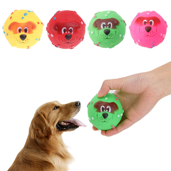 1Pc 7CM Pet Dog Giggle Ball Tough Treat Training Chew Sound Funny Toy SqueakyC42 1