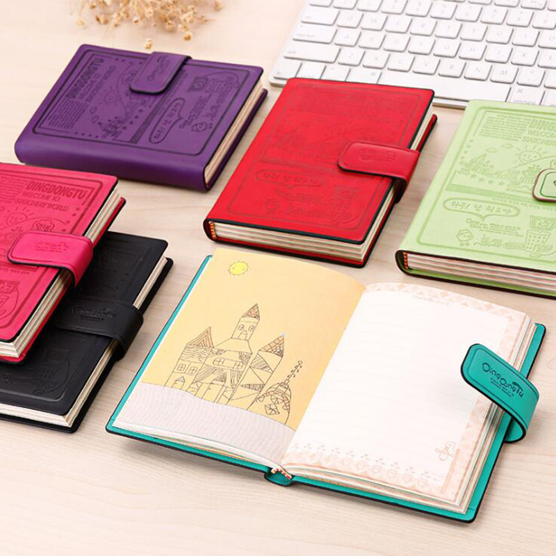 A6 Notebook Mini A7 Memo Sketchbook Notepad Magnet Button Diary Planner Journal Pads Office School Supplies Student Gift все цены
