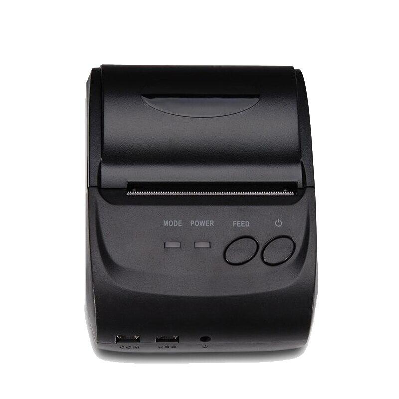 Thermique mobile téléphone imprimante bluetooth IOS 58mm mini impressora termical usb rs232 portable pos imprimante de tickets HS-584AI
