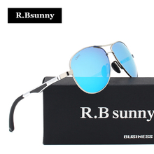 R.Bsunny brand polarized sunglasses men Summer fashion classic women leisure sun glasses Alloy frame Polaroid lens UV400 Goggles