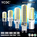 YCDC LED Bulb SMD 2835 LED G4 G9 E14 B15 LED lamp 3W 3.5W 5W 7W 8W 9W Corn Light AC220V AC/DC12V Replace Halogen Lamp Home Decor