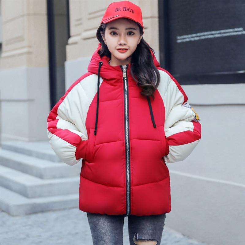 2019 New Arrival Winter Jacket Women Korean Style Hooded Oversized Fashion Womens Coat Short Padded Female Outwear   Parka