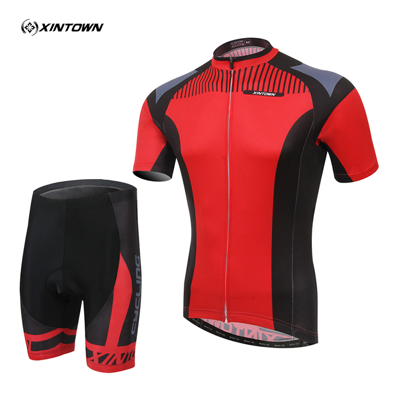 Unisex 2015 New Summer Red Cycling Bike Wicking Breathable Short Sleeve Clothing Bicycle Jersey Bib Shorts S-4XL women s cycling shorts cycling mountain bike cycling equipment female spring autumn breathable wicking silicone skirt