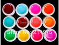 12 PCS Mix Colors Glass UV Builder Gel Acrylic Nail Art Set for Nail Art Tip New