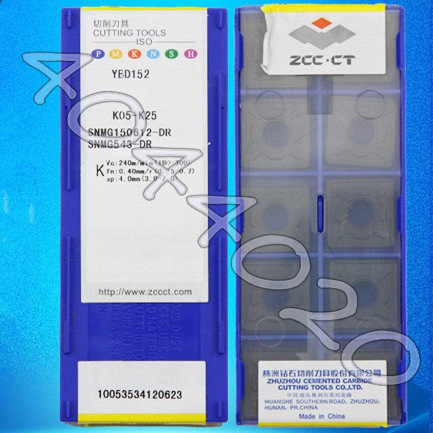 SNMG150612-DR YBD152 SNMG543-DR YBD152 10pcs/box ZCC-CT New original Carbide blade