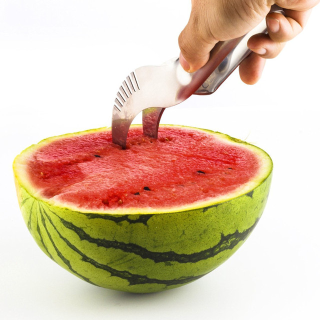 watermelon stainless steel slicer and fruit peeler
