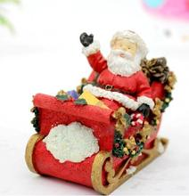 Christmas 3d Santa Claus Sitting on a sledsilicone candles mould soap molds for home decorations