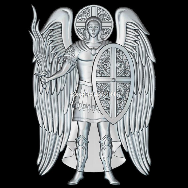 Saint Mihail (Arhanghelul) 3d модель для ЧПУ STL формат религия 3d рельеф модель STL маршрутизатор 3 оси гравер ArtCam