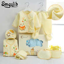 Smgslib 7pcs Baby girl Clothes winter Newborn Toddler unisex Fall Spring Cotton 0 3 Months baby boy outfit Baby Clothing Sets(China)