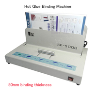 Sıcak Tutkal Masaüstü Kağıt Binder Makinesi Ciltleme Makinesi 50mm Kağıt Kalınlığı SK5000 Elektrikli Metal Kitap Yapımcısı