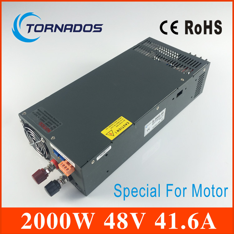 2000W 48V Switching power supply for DC Motor AC to DC power suply input 220v ac to dc power supply S-2000-48 110v ac input 200w switching power supply dc48v dc power supply 48v 4a model s 200 48