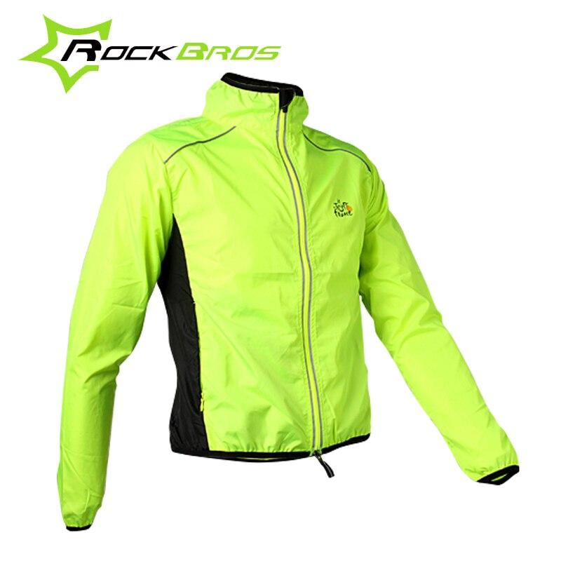 Цена за Rockbros велоспорт мужская езда дышащий светоотражающие джерси цикл clothing длинным рукавом ветрозащитный quick dry куртки пальто, 6 Цвет