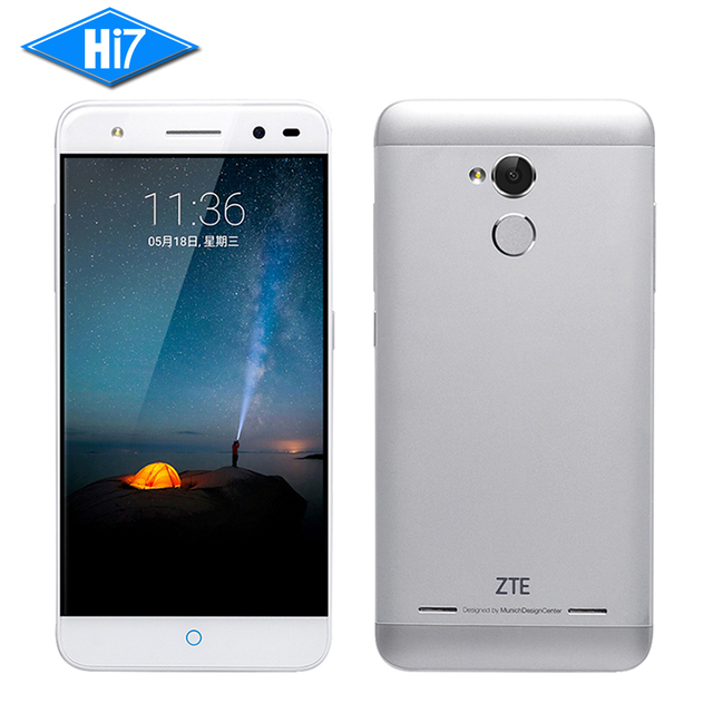 New Original ZTE Blade A2 Octa Core 1.5GHz Android 5.1 2GB RAM 16GB ROM 5.0 Inch 13.0MP 4G Dual SIM Fingerprint Mobile Phone