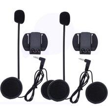 2 Unidades V6 V4 Accesorios Interfono (auriculares y Clip de Soporte) sólo Juego para V6 V4 Motocicleta Casco Auricular Bluetooth Intercom