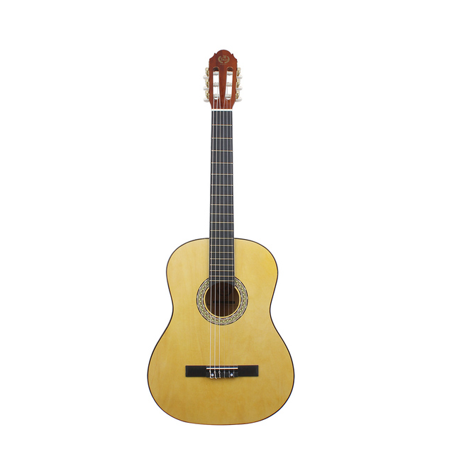 39 Yellow Acoustic Classical Guitar Nylon 6 Strings Hollow Body Profissionais Handmade Guitar Neck Basswood Fingerboard Cheap