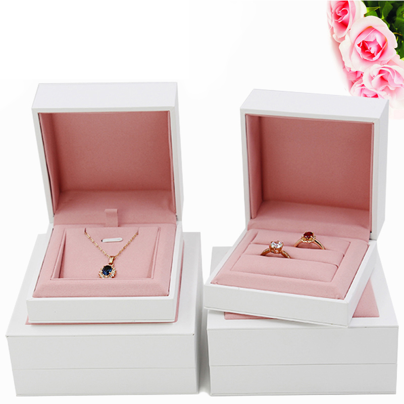 New Minimalist Style Jewelry Box, Marriage Diamond Ring Box, Couple Ring Box, Necklace Bracelet Gift Box