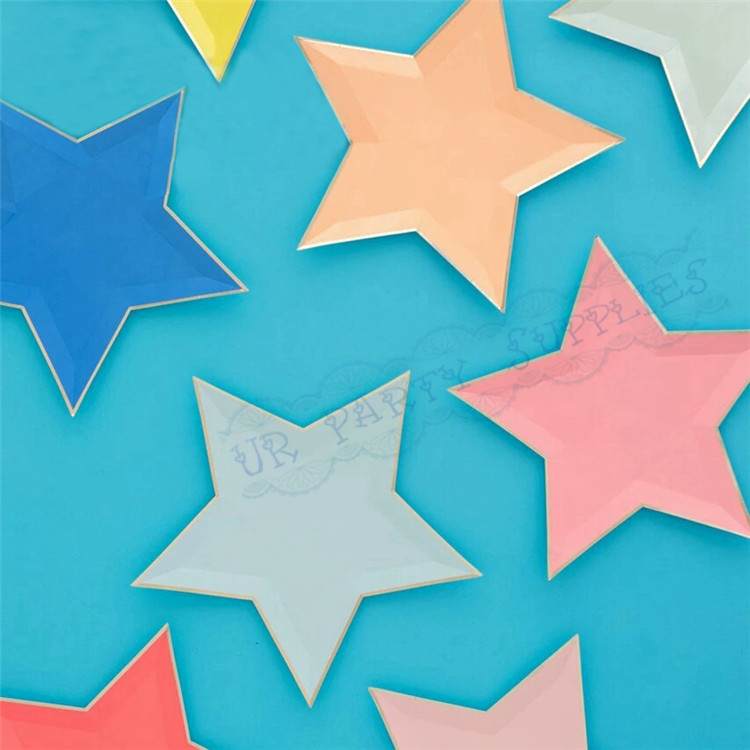 Jazzy Star Plates Celebrations And Birthdays  sc 1 st  Plate & Gold Star Shaped Paper Plates - Best Plate 2018