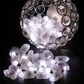 Decoração do Ano novo Balão LEVOU Luz com Bateria para a Lanterna De Papel Fontes Do Partido Do Casamento Do Natal Luzes Florais 100 pçs/lote