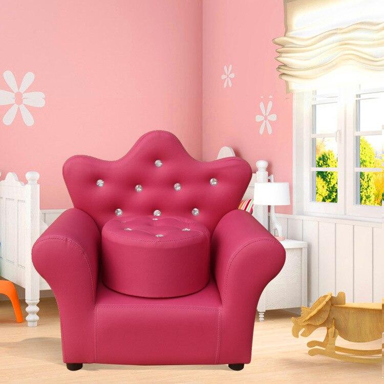 Enfants bébé canapé belle couronne bébés, canapés avec tabouret mini-princesse, bébé canapé chaises fauteuil chaise longue