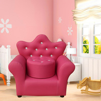 children infant sofa Lovely crown Babies, couches With stool mini Princess, baby couch chairs armchair lounge chaise
