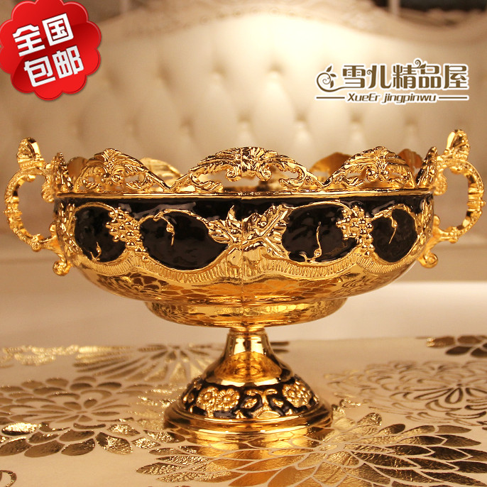 The new national post European carving fruit dish fruit bowl bowl peel luxury KTV hotel bar household ornaments