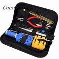 CocoShine A-888 Alta Qualidade Assista Kit Repair Tool Opener Ligação Remover Primavera Bar Pin Banda w/Bolsa de Transporte por atacado