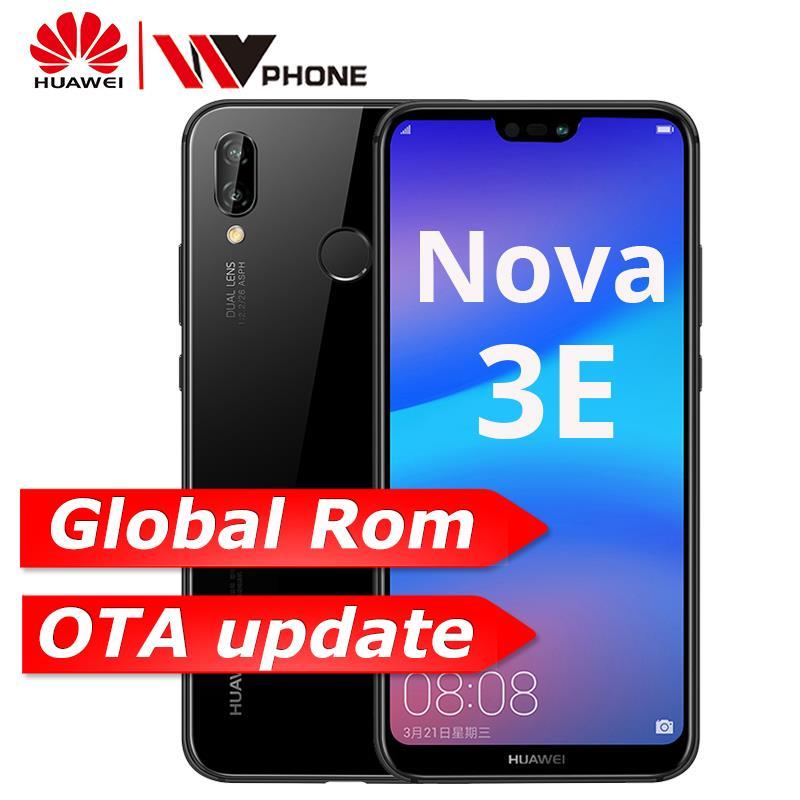 Huawe p20 lite Nova 3e 4G 6 4G мобильного телефона Octa Core 5,84 дюймов 3000 мАч 2280 * 1080P сканер отпечатков пальцев ID android 8,0