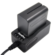 DuraPro 1Pcs 7200mAh NP F960 NP F970 F960 Rechargeable Camera Battery Quick Rapid Charger for SONY