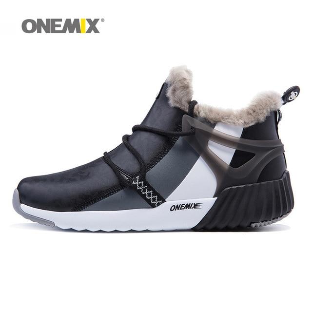 Zapatos de senderismo para hombre, Invierno para mujer impermeables de Botas de senderismo, zapatillas deportivas negras y cómodas para escalar