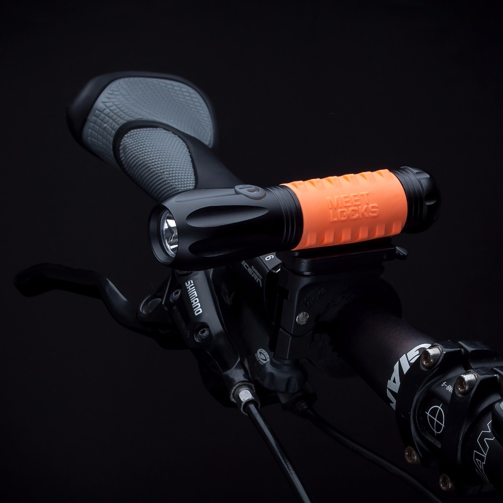 MEETLOCKS Super Bright USB Rechargeable Bike Torch High Intensity Cree Q3 LED and USB