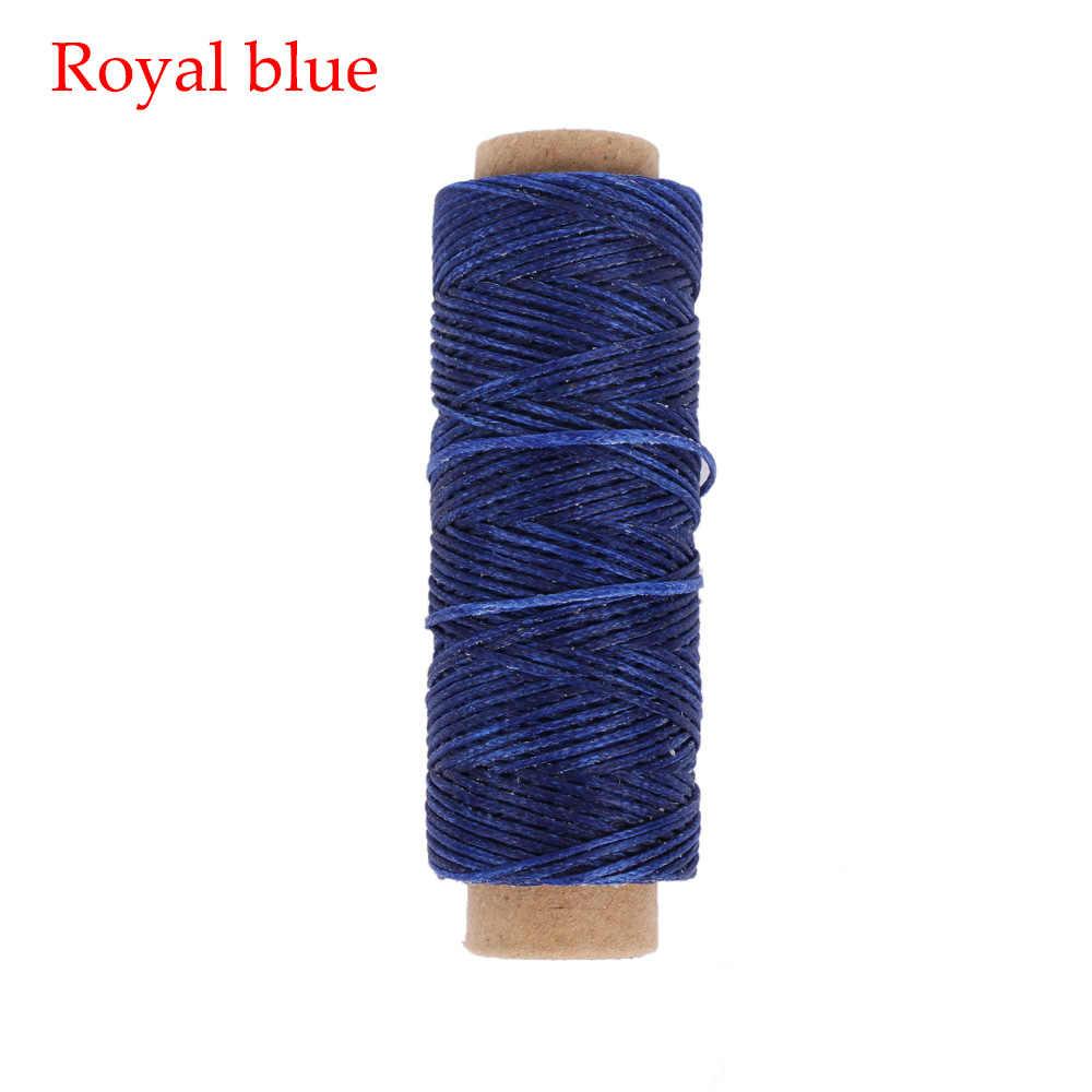50 метров/рулон прочный 1 мм 150D кожа вощеный моток веревки для DIY инструмент для рукоделия ручной нитки для вышивания плоские Вощеные Отстроченный шов
