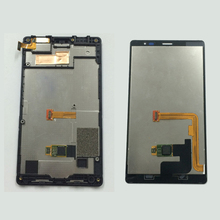 Full Black Touch Screen Digitizer Sensor Glass + LCD Display Monitor Panel Assembly Frame For Nokia X2 Dual Sim X2DS RM-1013