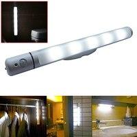 PIR Motion Light Sensor 5LED Swivel Night Light Lamp For Wardrobe Cabinet Can Be Rotated To