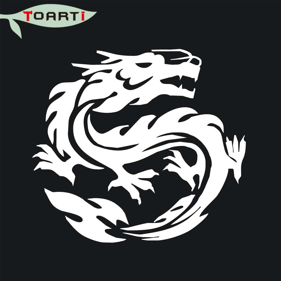 1412cm chinese dragon vinyl decal sticker car graphics removable car styling decals creative rear windshield auto stickers in car stickers from automobiles