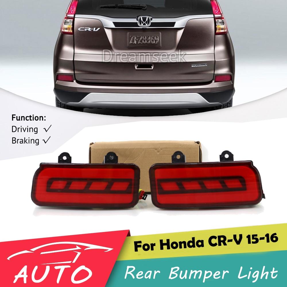 Red LED Rear Bumper Tail Light for Honda CR V CRV 2015 2016 Driving Lamp With Brake Signal