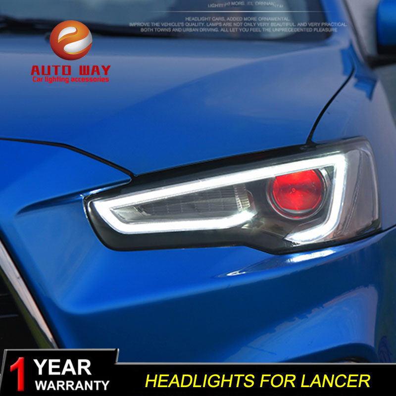 Car Styling Head Lamp case for Mitsubishi Lancer Headlight 2009-2016 Sentra LED Headlights DRL H7 D2H Hid Option Bi Xenon Beam