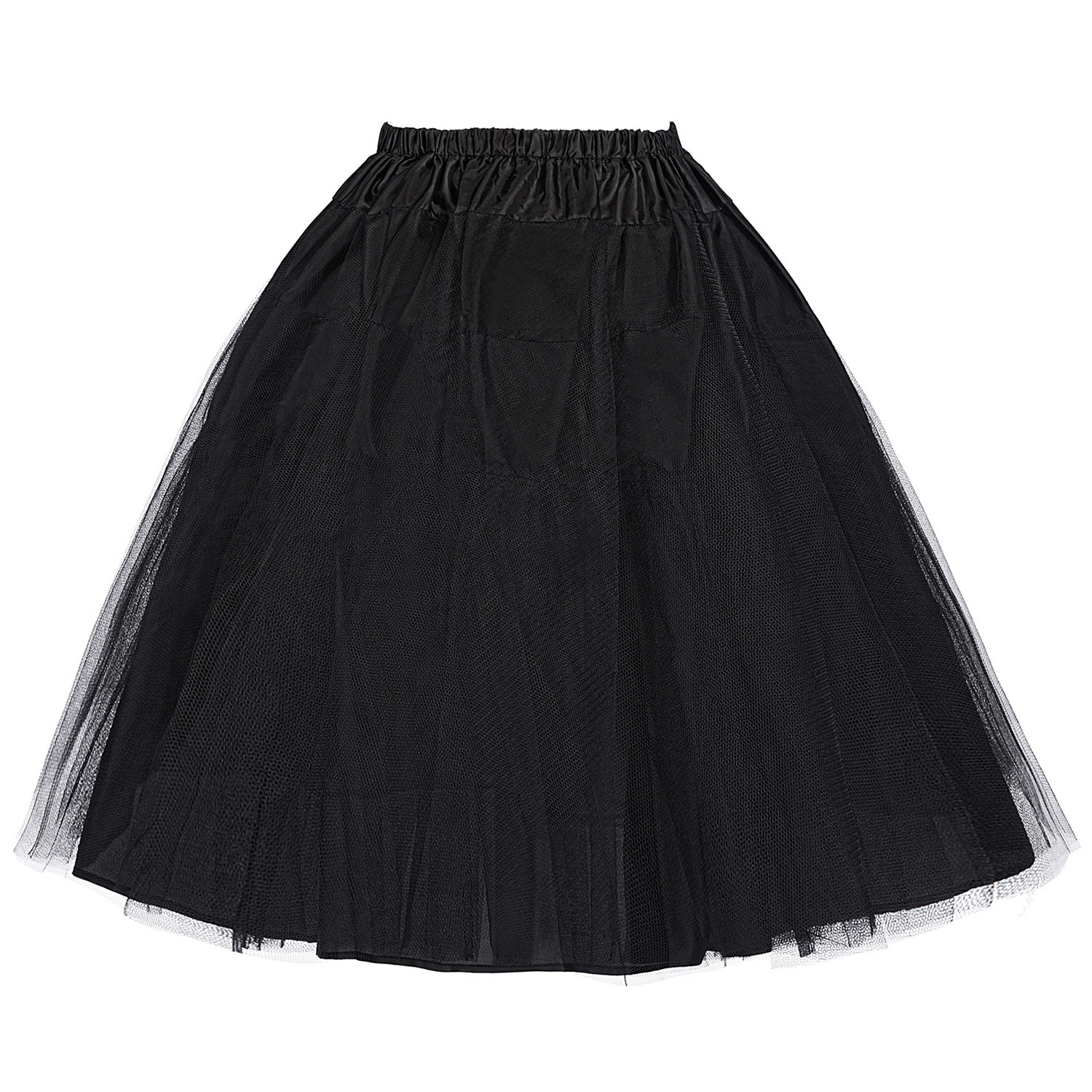 Women Red Black Purple Green Retro Vintage Skirt Mini Crinoline Petticoat Underskirt Two Layers Tulle Skirt Gonna Tulle