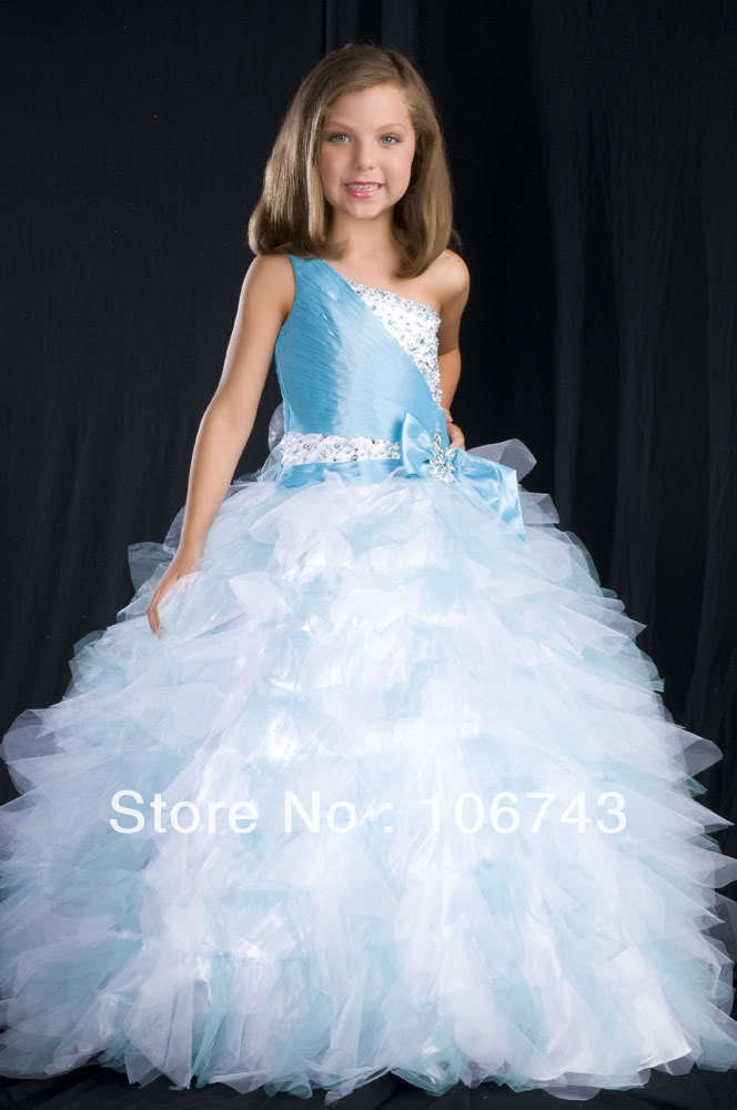 free shipping 2016 bow discount fully beaded wedding gowns Cherubic Children Pageant Dreses Bridal   flower     girl     Dresses