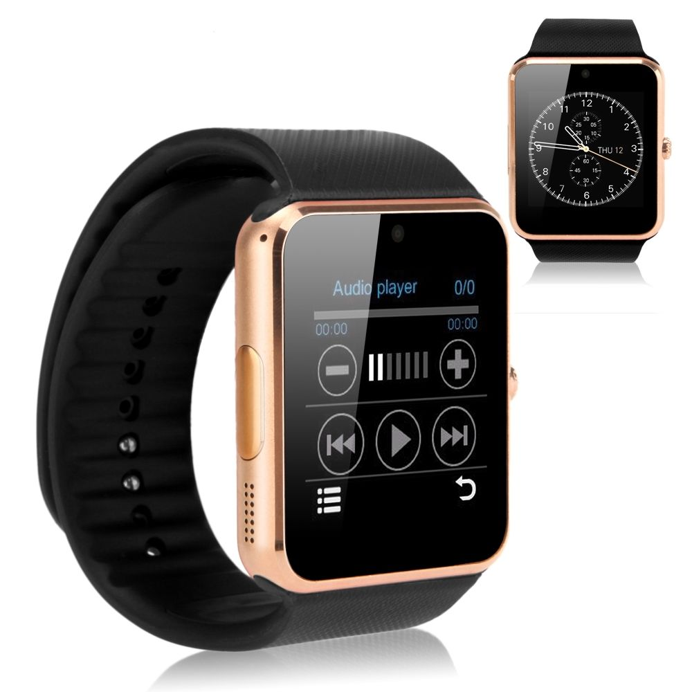 """2016 1.54""""gt08 Bluetooth Smart Watch for Iphone Samsung Htc Xiaomi Android IOS Note Independent"""