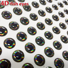 2017NEW 4D fish eyes fly fishing lure eye realistic holographic fly tying material size 3mm-12mm quantity:300pcs/lot