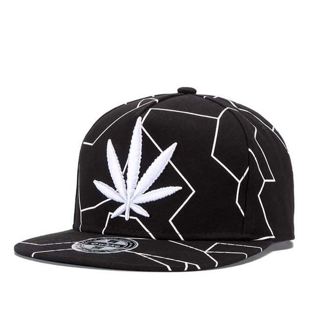 Online Shop 2018 Gorras Planas Snapbacks Hot Style Masculino Feminino Hemp  Leaf Embroidery Flat Hat Baseball Cap Hip Hop Cap Hat Swag Mens  5c2750bc434