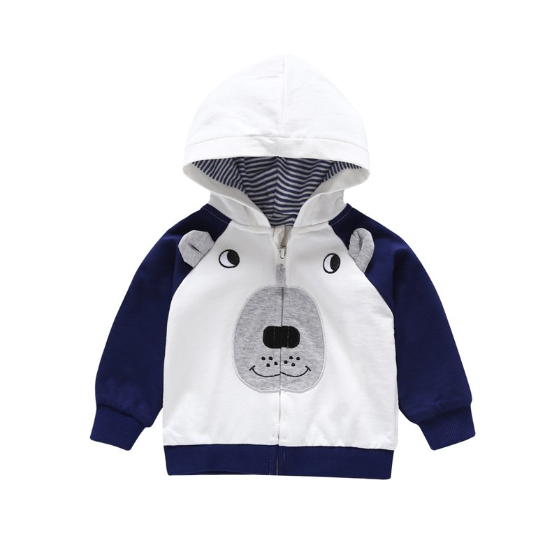 Cartoon Hooded Jackets Long Sleeve For Baby Boy Girl Clothes Jas Toddler Infant Clothing 2019 Spring Children Coat Kids Fashion