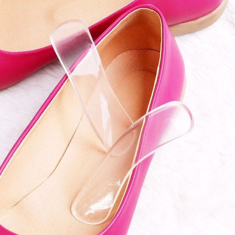 1 Paar Frauen Silikon Gel Ferse Kissen Protector Pflege Schuh Insert Pad Einlegesohle Geschenk