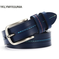 Womens Genuine Leather Belts High Quality Brand Female Strap Women Waistband Black Color Belt