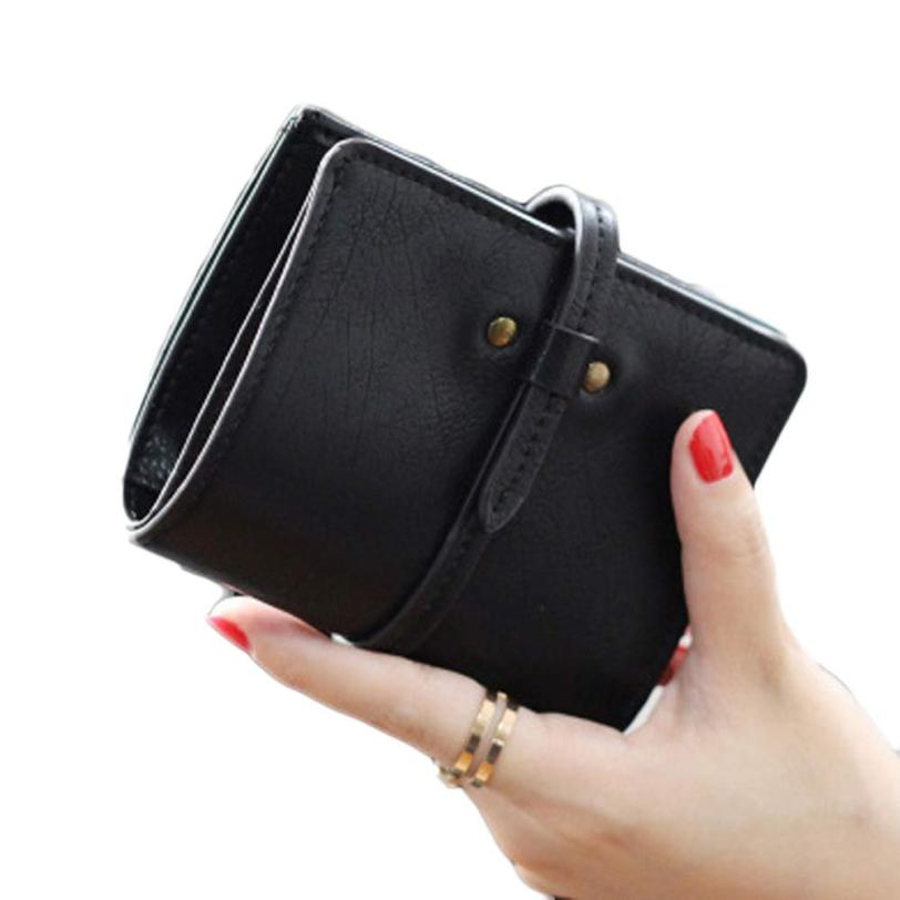 2017 carteras mujer Women Ultrathin Mini Bifold Leather Wallets Purse Coin Purse Women Card Holder Wallets portefeuille femme women purse solid color mini grind magic bifold leather wallet card holder clutch women handbag portefeuille femme dropshipping