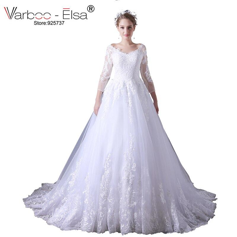 VARBOO_ELSA 2018 Baru Putih Renda Wedding Dress Gaun Pengantin ...