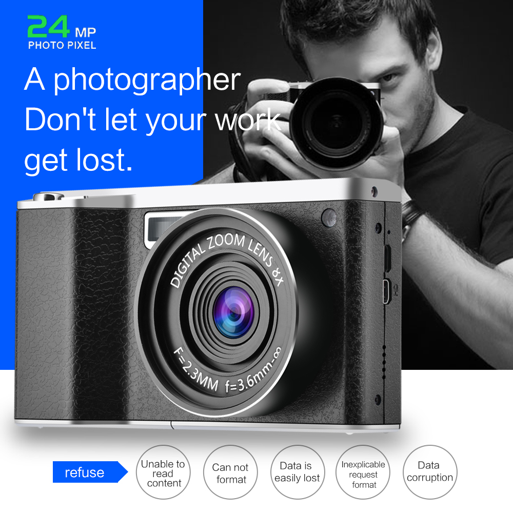 Nouveau style X9 écran tactile 24MP 12X Zoom optique F3.2-6.5 enregistreur vidéo caméra numérique avec 52mm grand Angle + objectif Macro - 4